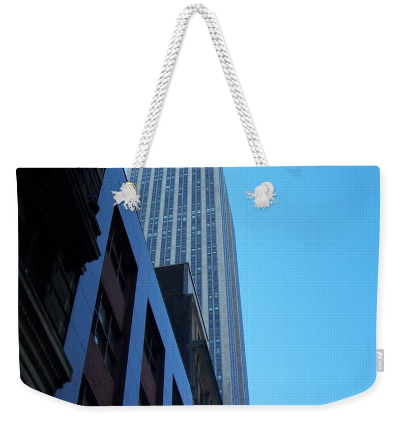 Emoire State Building Weekender Tote Bag featuring the photograph Empire State 1 by Anita Burgermeister