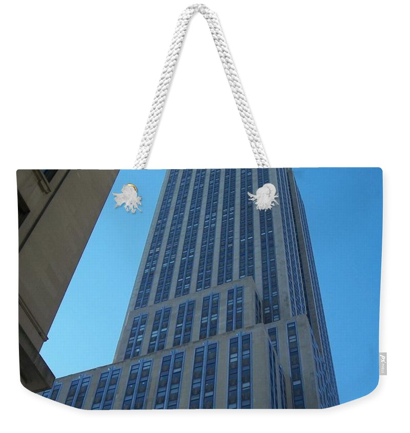 Emoire State Building Weekender Tote Bag featuring the photograph Empire State 2 by Anita Burgermeister