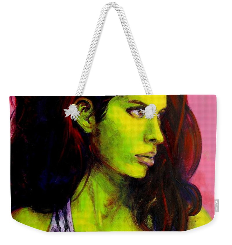 Girl Weekender Tote Bag featuring the painting Empress At Rest by Jason Reinhardt