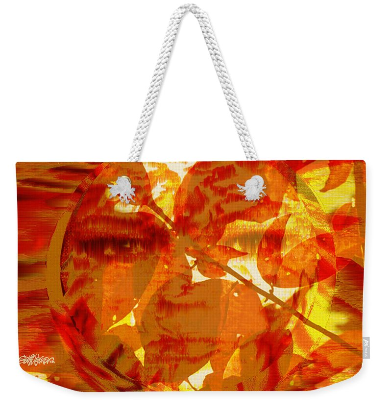 Oriental Weekender Tote Bag featuring the digital art Empress Of The Sun by Seth Weaver