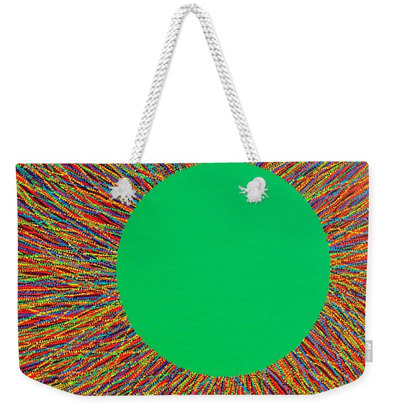 Contemporary Weekender Tote Bag featuring the painting Empty Cup 1 by Kyung Hee Hogg
