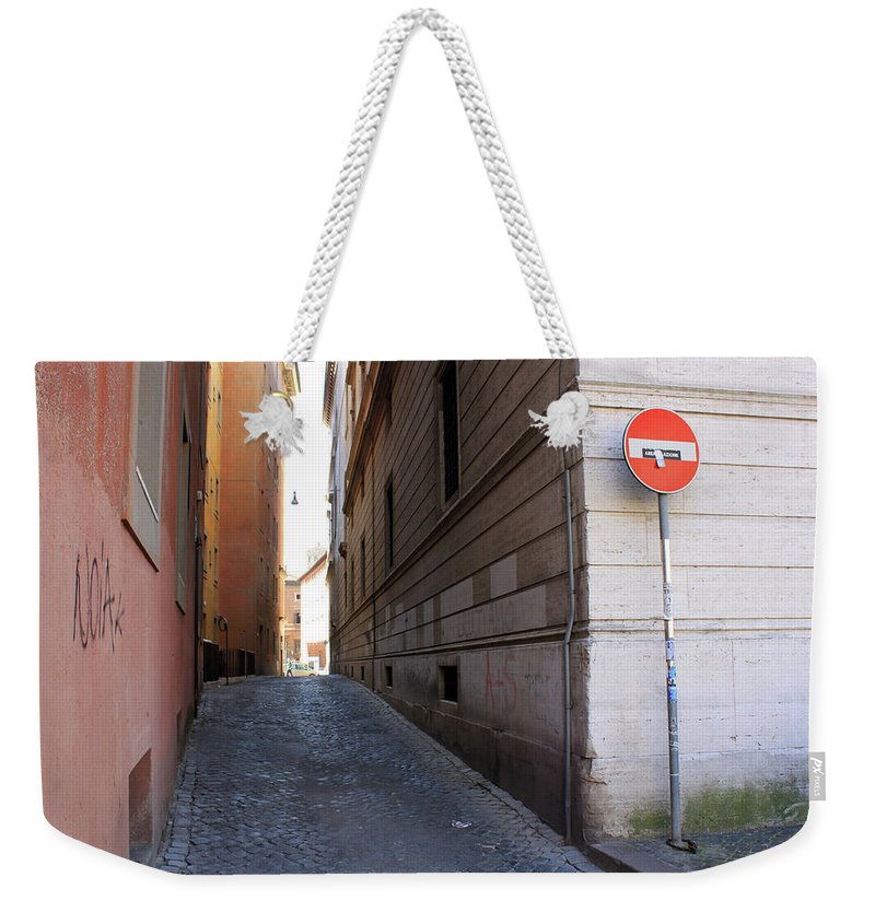 Empty Weekender Tote Bag featuring the photograph Empty Street by Munir Alawi