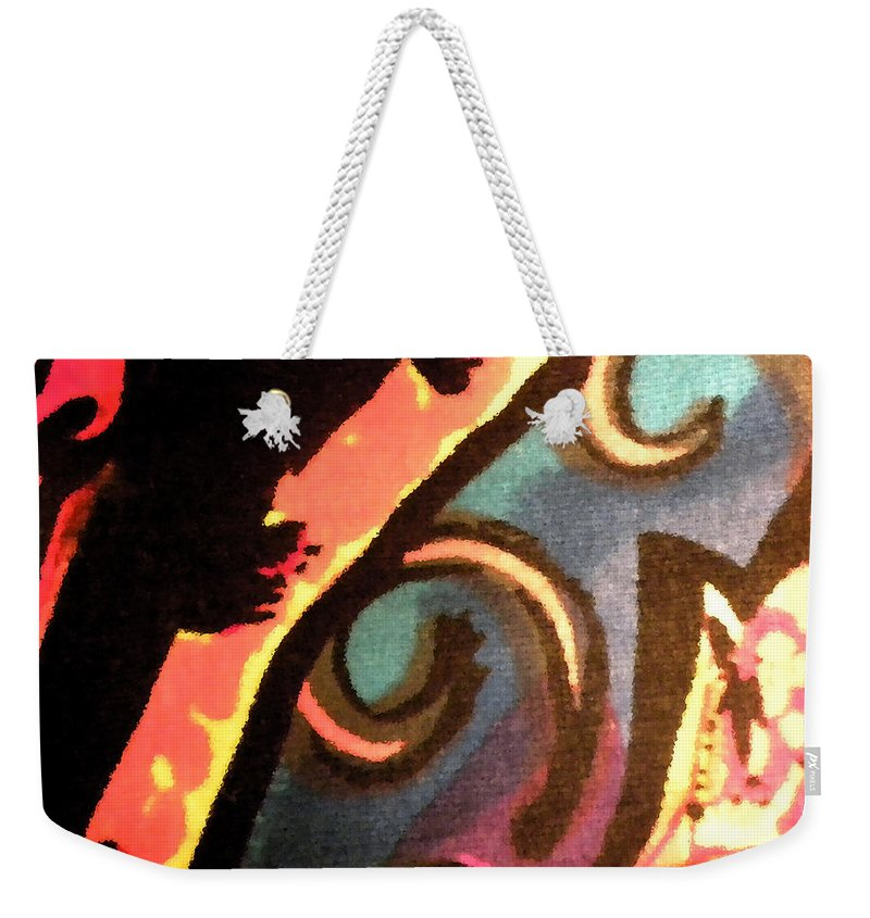 Abstract Weekender Tote Bag featuring the mixed media En Joy Ll by Sandi OReilly