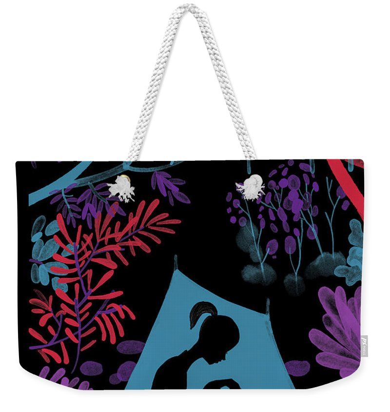 144373 Weekender Tote Bag featuring the drawing Enchanted Forest by Christoph Niemann