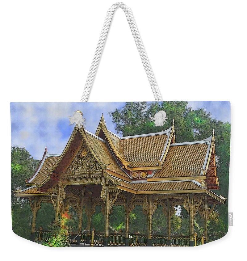 Enchanted Garden Weekender Tote Bag featuring the digital art Enchanted Garden by John Beck