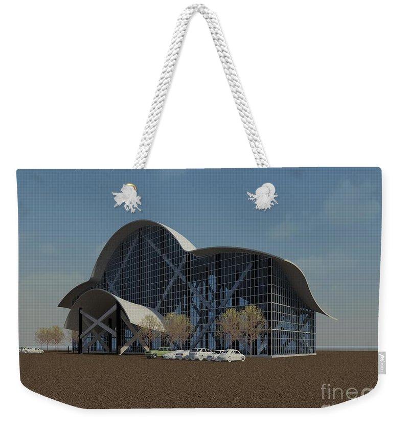 Building Rendering Weekender Tote Bag featuring the digital art Enclosure by Ron Bissett