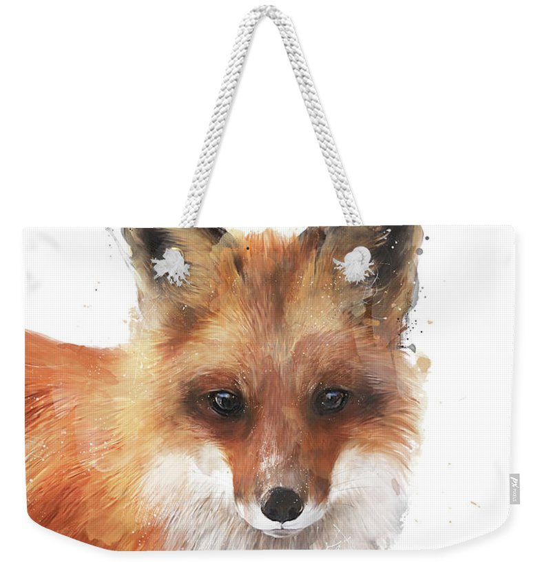 Fox Weekender Tote Bag featuring the painting Encounter by Amy Hamilton