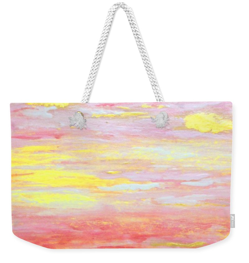 Abstract Weekender Tote Bag featuring the painting Encouragement by Tracy