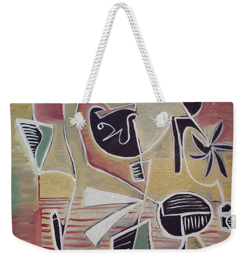 Abstract Weekender Tote Bag featuring the painting End Cup by W Todd Durrance