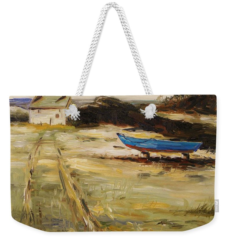 House Weekender Tote Bag featuring the painting End Of Season by John Williams