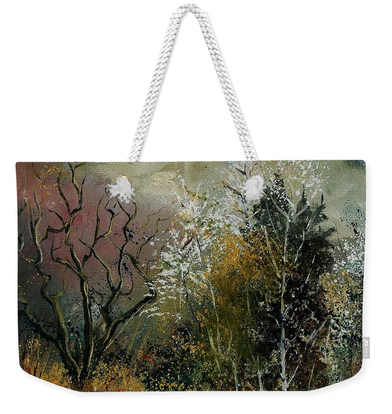 River Weekender Tote Bag featuring the painting End Of Winter by Pol Ledent