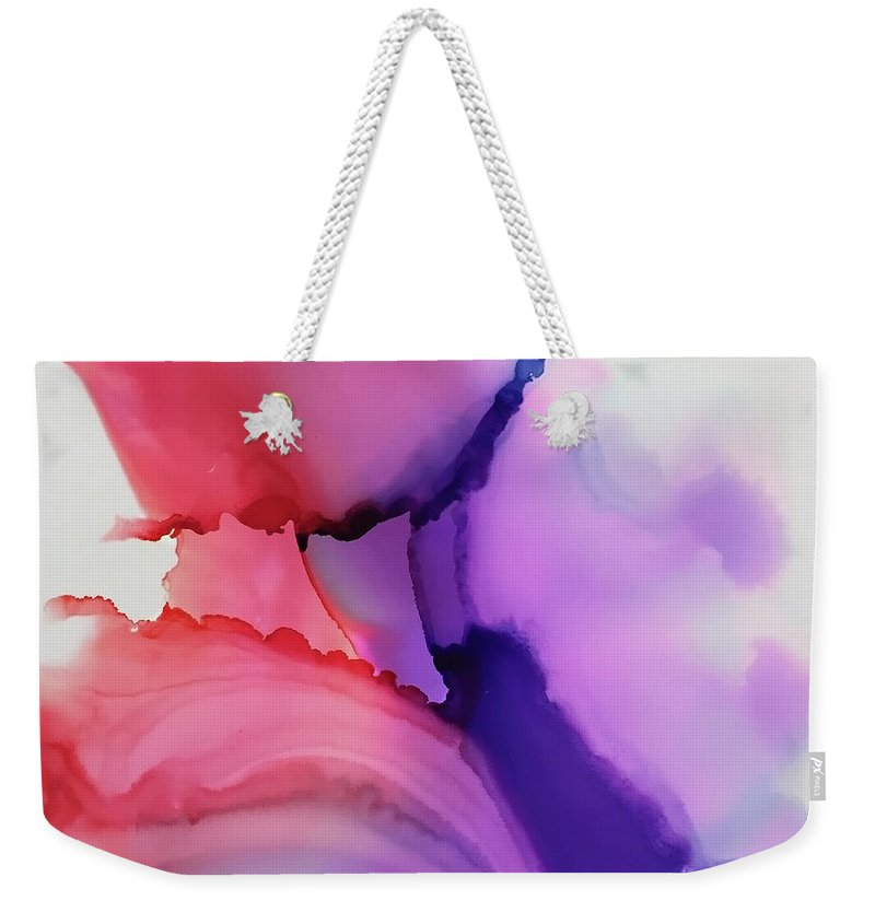 Alcohol Ink Weekender Tote Bag featuring the painting Endless Dive by Jonny Troisi