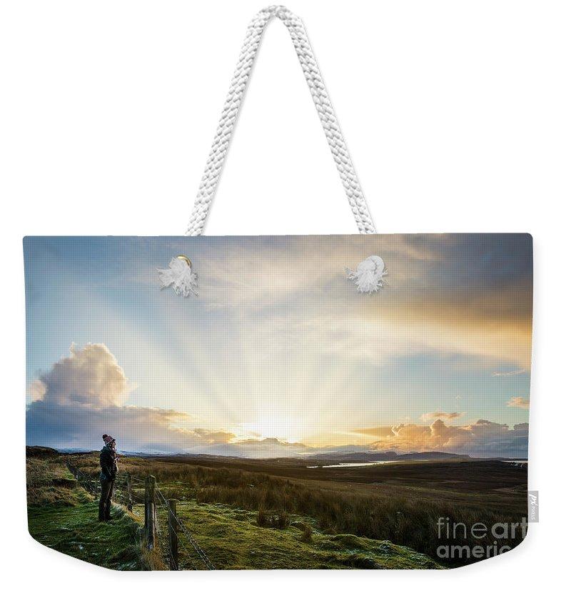 Kremsdorf Weekender Tote Bag featuring the photograph Endless Skye by Evelina Kremsdorf