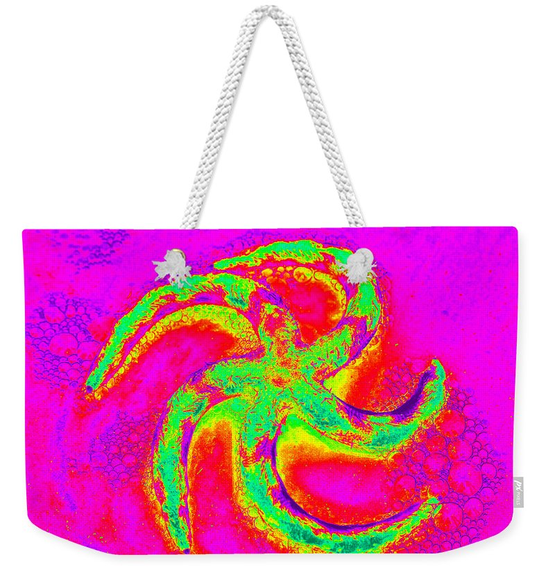 Starfish Weekender Tote Bag featuring the photograph Energetic Bold Colors Starfish by Carol Groenen