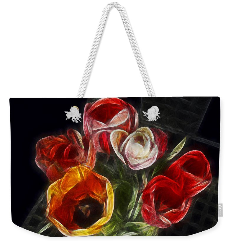 Tulip Weekender Tote Bag featuring the photograph Energetic Tulips by Joachim G Pinkawa