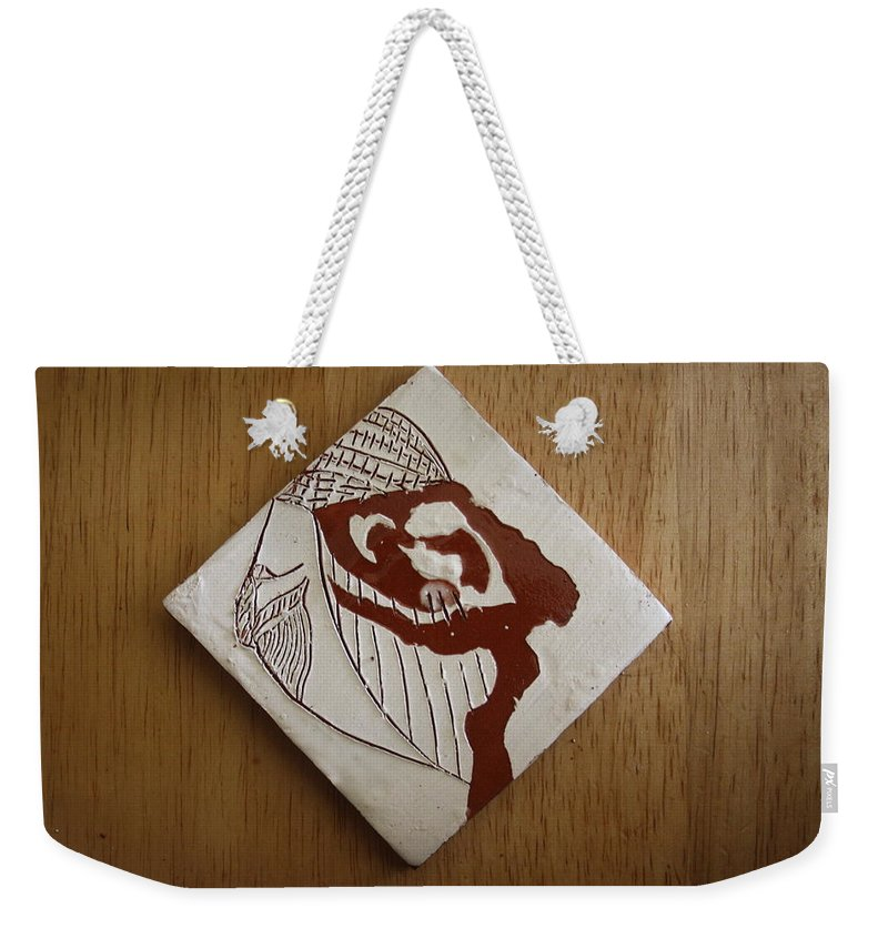Jesus Weekender Tote Bag featuring the ceramic art Energy - Tile by Gloria Ssali