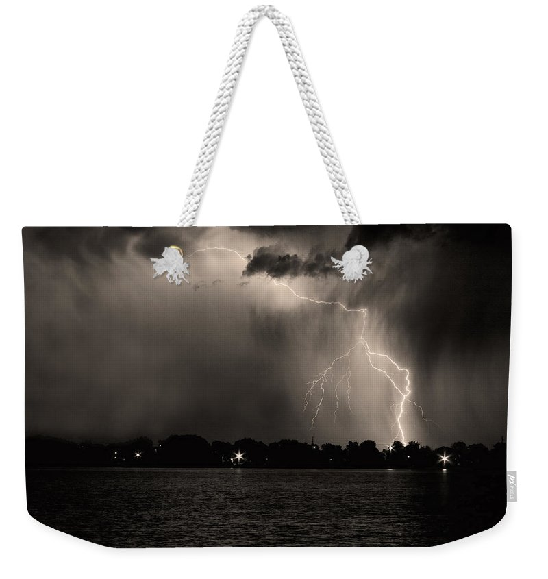 Lightning Weekender Tote Bag featuring the photograph Energy by James BO Insogna