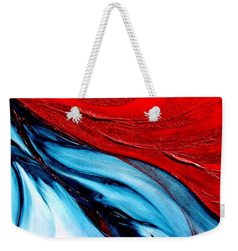Energy.sun Weekender Tote Bag featuring the painting Energy by Kumiko Mayer