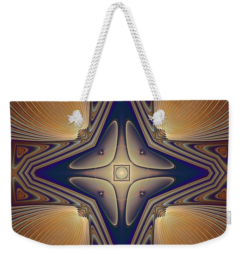 Digital Weekender Tote Bag featuring the digital art Energy Of Love For All by Deborah Benoit