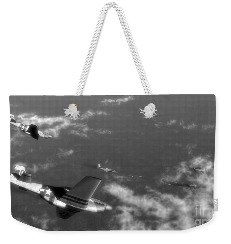 Aviation Weekender Tote Bag featuring the digital art Engagement Party by Richard Rizzo