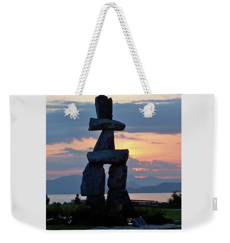 English Bay Vancouver Weekender Tote Bag featuring the photograph English Bay Vancouver by Jean Pierre Cote