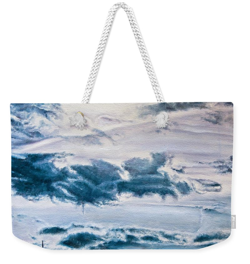 Skies Weekender Tote Bag featuring the painting English Beach by Michel Angelo Rossi