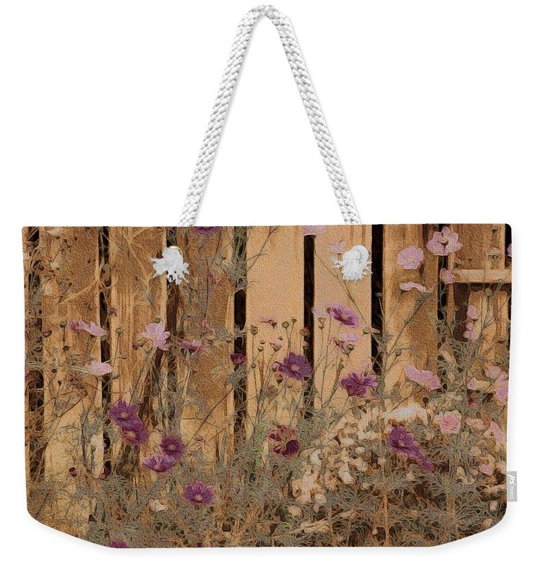 English Garden In Pastels Weekender Tote Bag featuring the photograph English Garden In Pastels by Susan Maxwell Schmidt