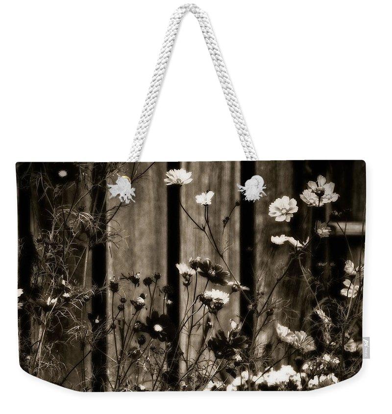 English Garden Weekender Tote Bag featuring the photograph English Garden Noir by Susan Maxwell Schmidt