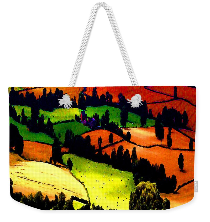 Summer Fields Weekender Tote Bag featuring the photograph English Summer Fields by P Donovan