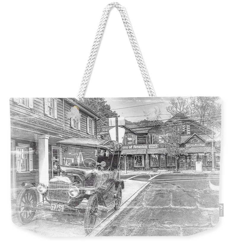 Recent Weekender Tote Bag featuring the photograph Englishtown New Jersey Classic Car by Geraldine Scull