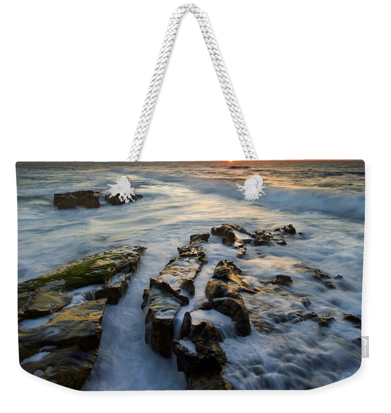 Sunset Weekender Tote Bag featuring the photograph Engulfed by Mike Dawson