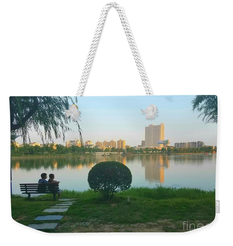 Sunset Weekender Tote Bag featuring the photograph Enjoy The Sunset by Jane Powell