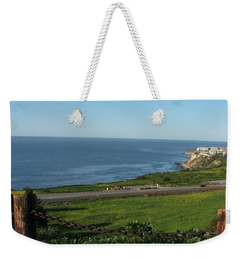 Ocean Weekender Tote Bag featuring the photograph Enjoying The View by Shari Chavira