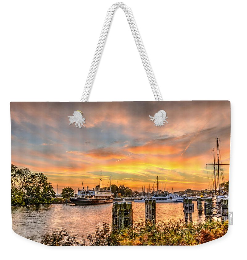 Enkhuizen Weekender Tote Bag featuring the photograph Enkhuizen Sunset by Frans Blok