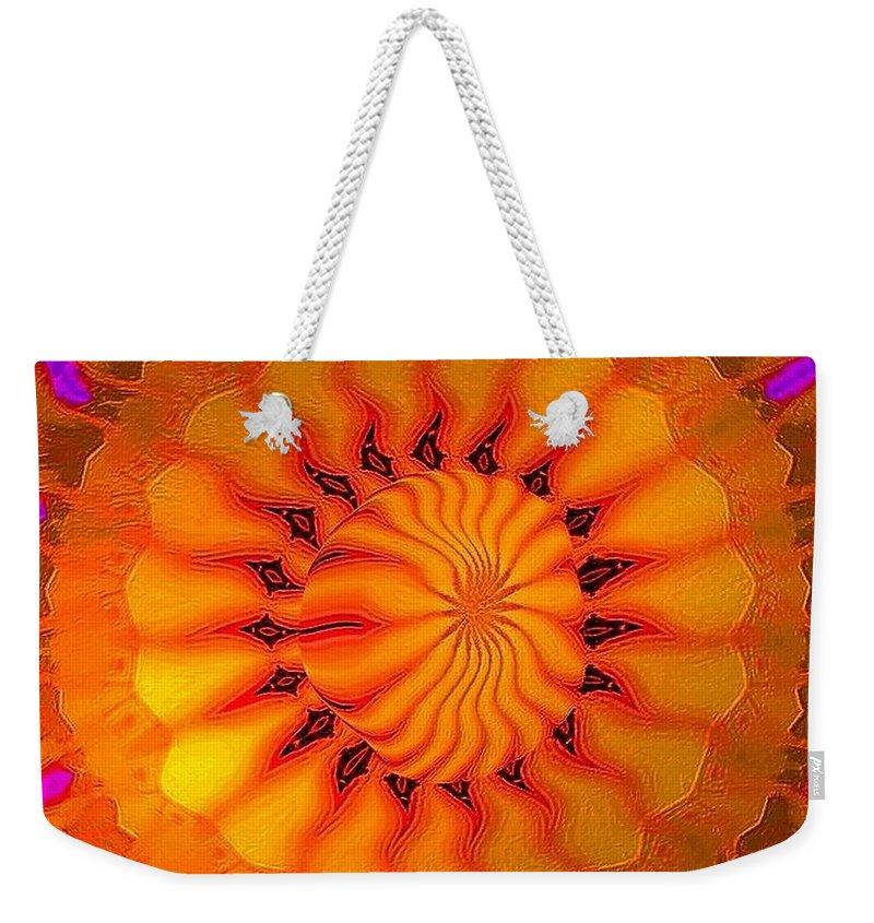 Sun Weekender Tote Bag featuring the digital art Enlighten Me by Robert Orinski