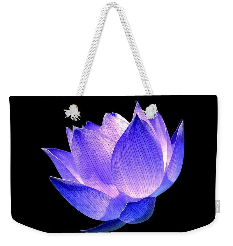 Flower Weekender Tote Bag featuring the photograph Enlightened by Jacky Gerritsen