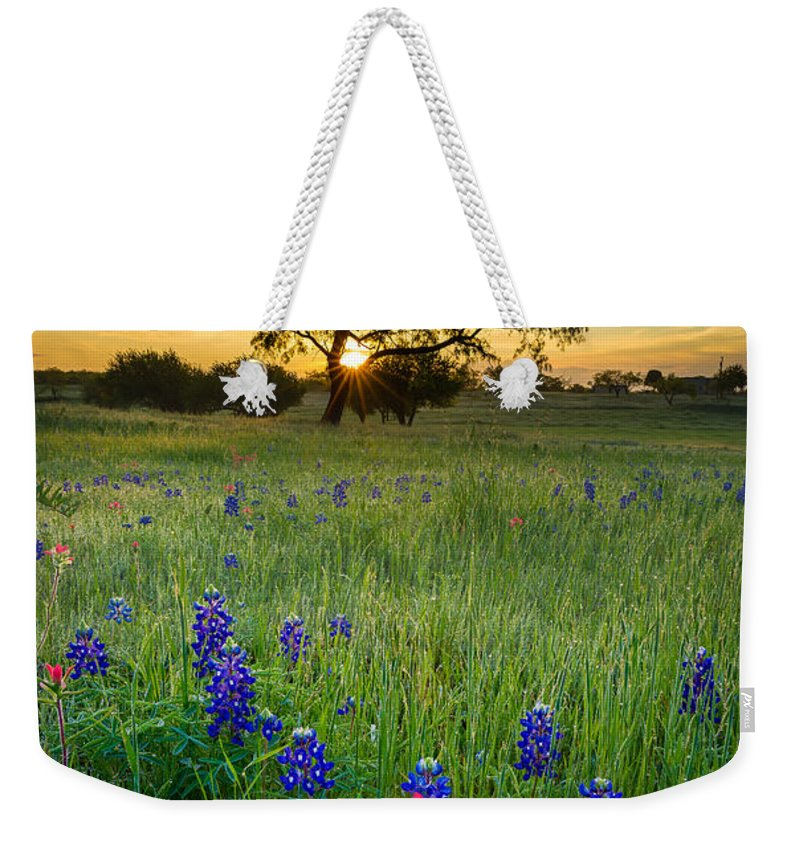America Weekender Tote Bag featuring the photograph Ennis Tree by Inge Johnsson