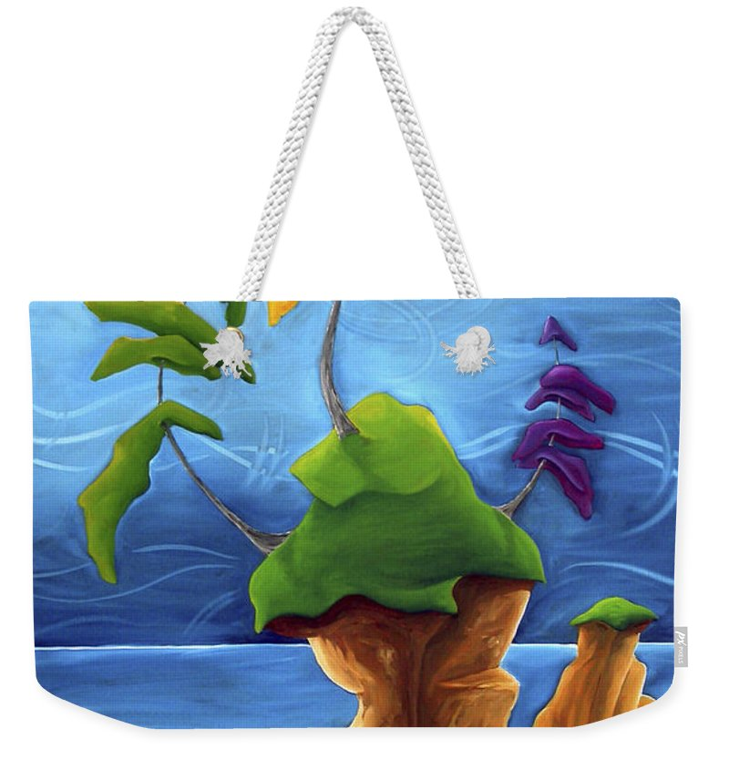 Landscape Weekender Tote Bag featuring the painting Enraptured by Richard Hoedl