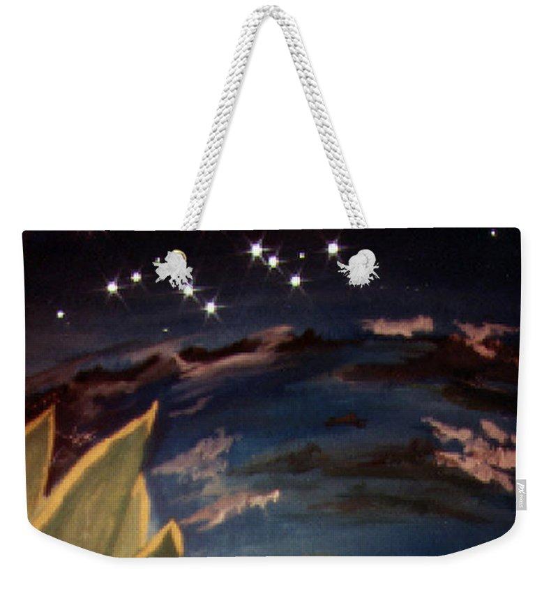 Surreal Weekender Tote Bag featuring the painting Enter my dream by Steve Karol