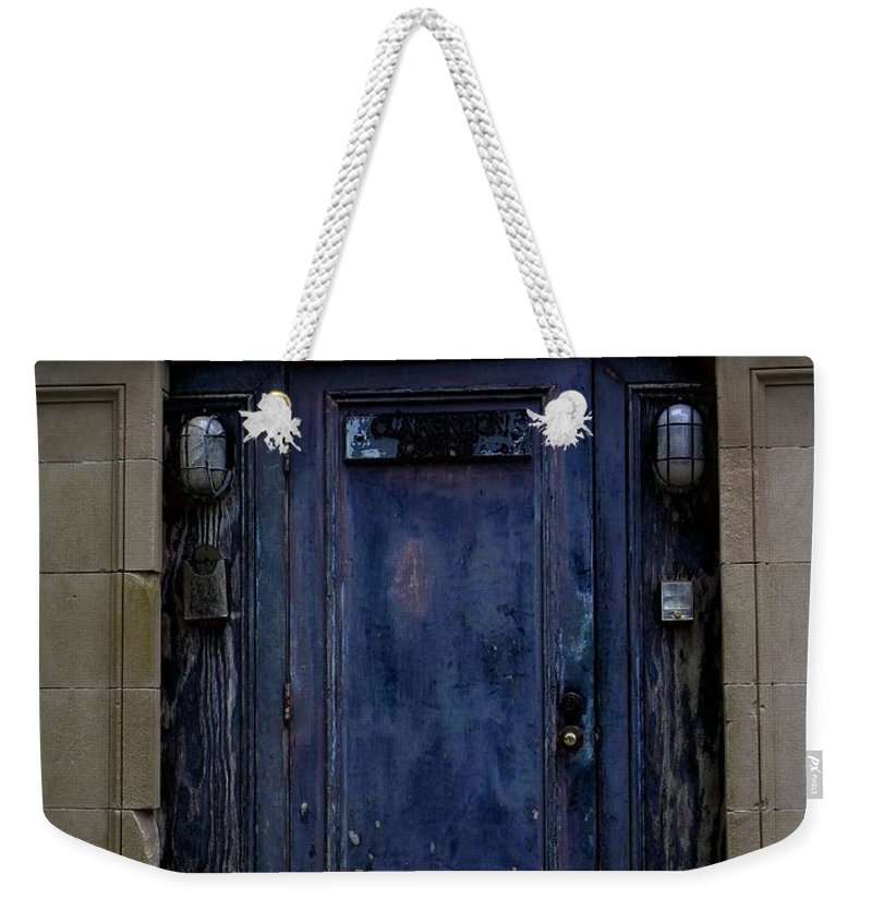 Asylum Weekender Tote Bag featuring the photograph Enter The Asylum by Charleen Treasures