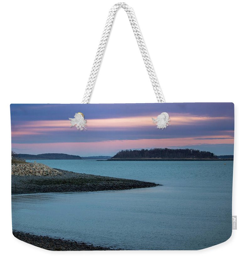 Boston Weekender Tote Bag featuring the photograph Entering Boston by James Nalesnik