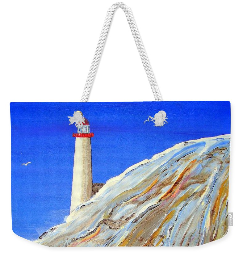 Impressionist Painting Weekender Tote Bag featuring the painting Entering The Harbor by J R Seymour