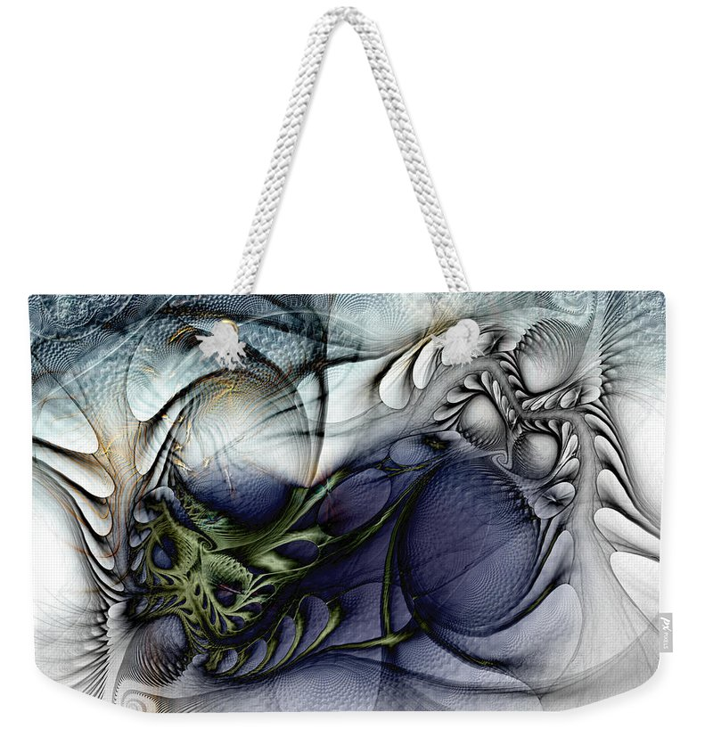 Abstract Weekender Tote Bag featuring the digital art Enterolithic by Casey Kotas