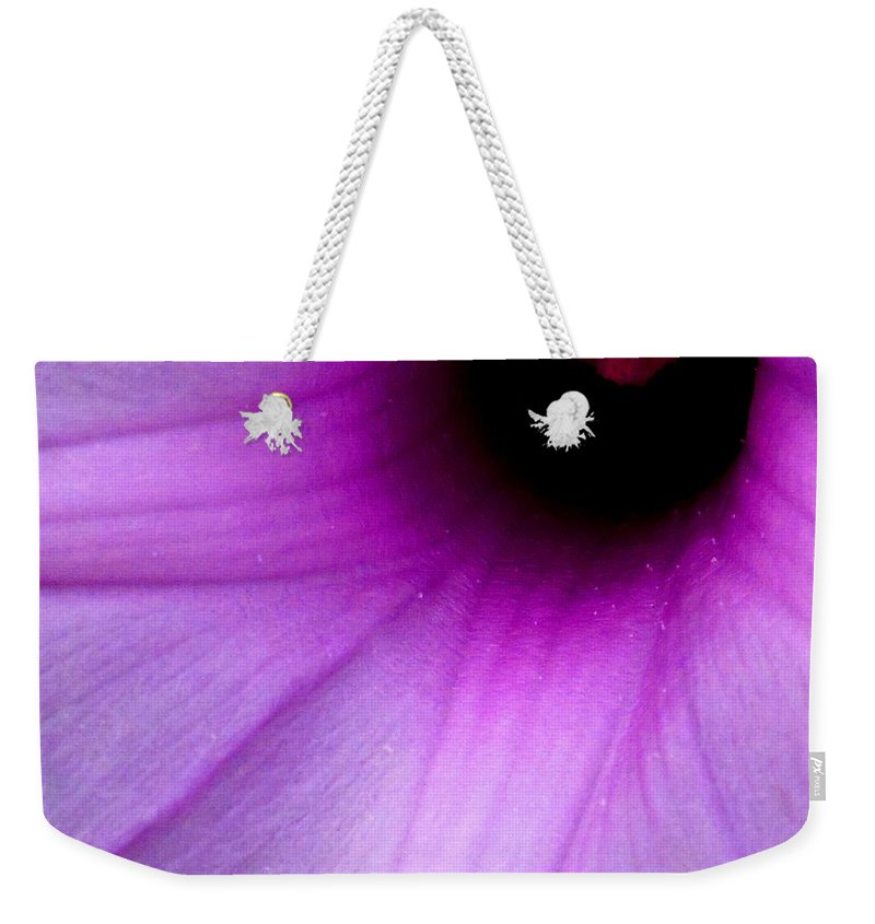 Flower Weekender Tote Bag featuring the photograph Enticing by Ian MacDonald