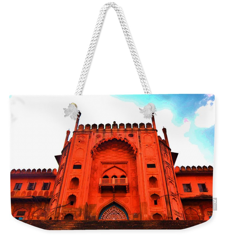 Architecture Weekender Tote Bag featuring the photograph #Entrance Gate by Aakash Pandit