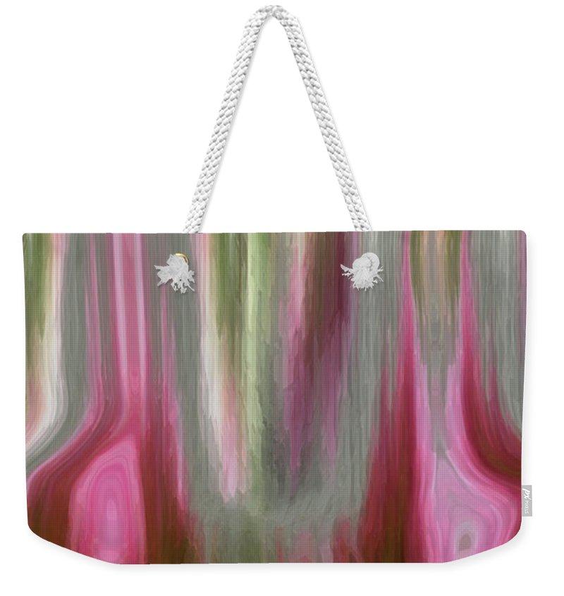 Abstract Art Weekender Tote Bag featuring the digital art Entrance by Linda Sannuti
