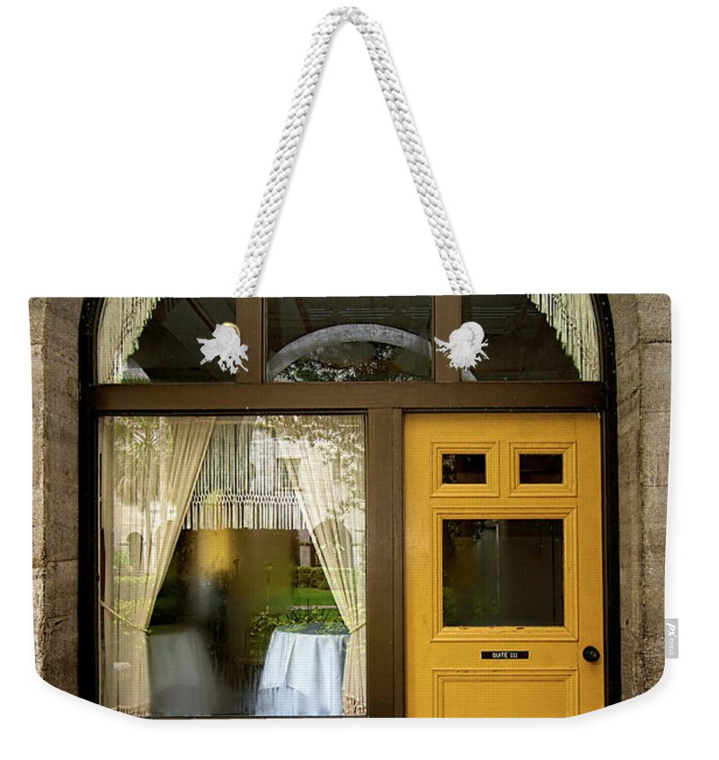 Shapes Weekender Tote Bag featuring the photograph Entry Geometrics by Christopher Holmes