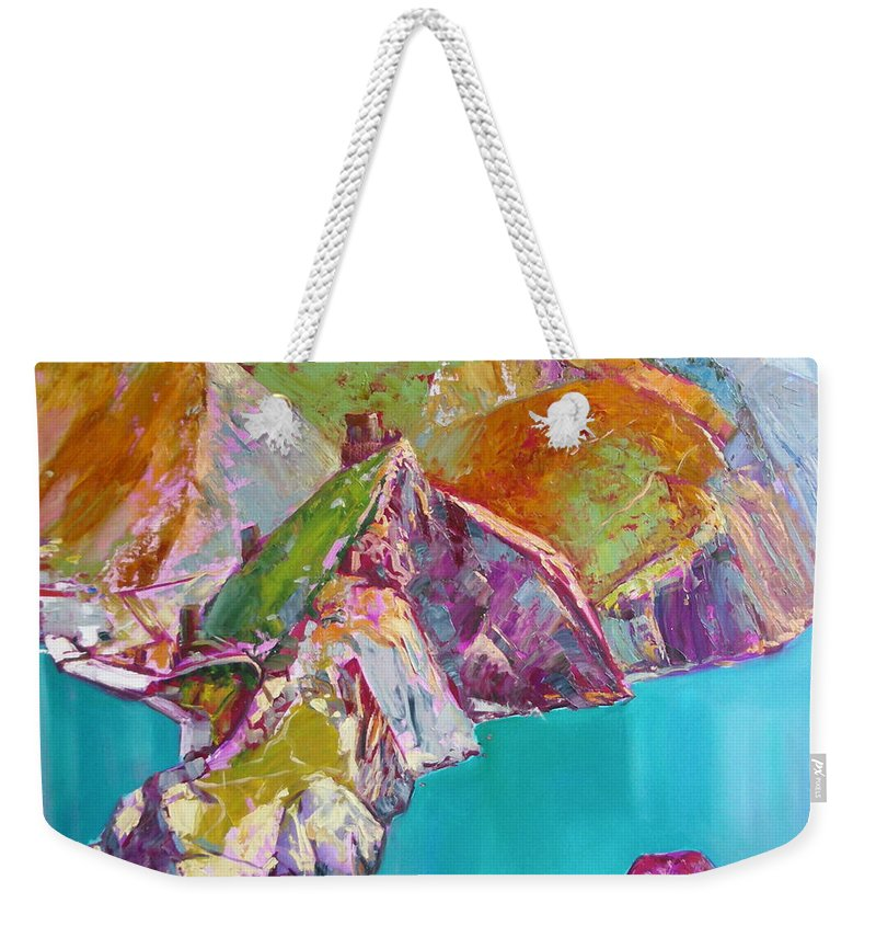 Ignatenko Weekender Tote Bag featuring the painting Entry To Balaklaw by Sergey Ignatenko