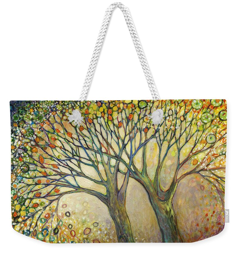 Tree Weekender Tote Bag featuring the painting Entwined No 2 by Jennifer Lommers