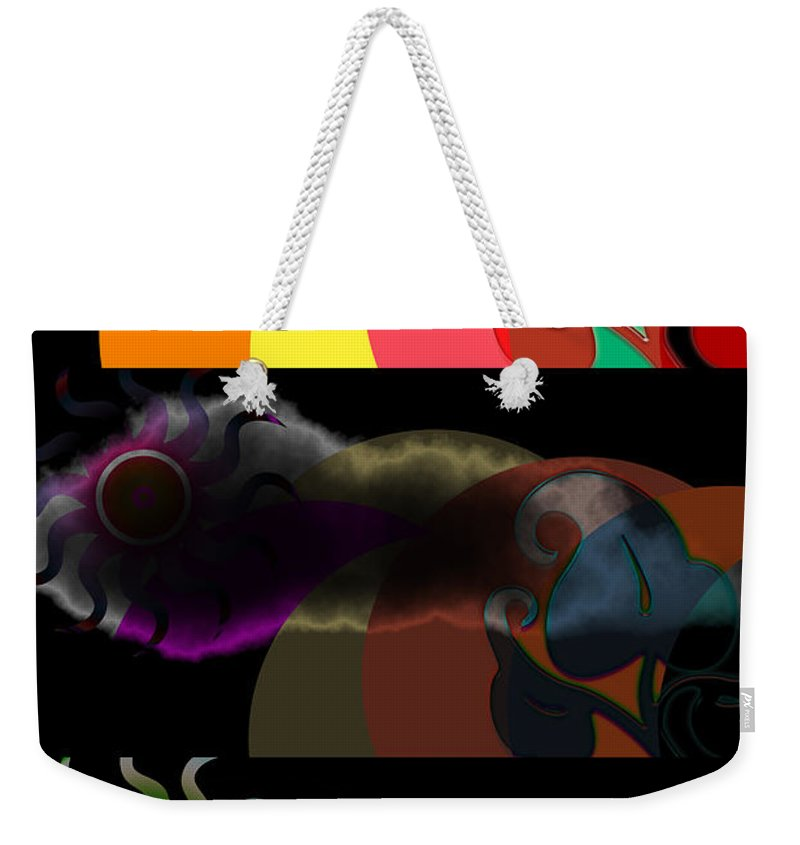 Weekender Tote Bag featuring the digital art Environment by Clayton Bruster